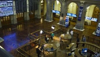 Vista del piso de remates del centro bursátil de España (Getty Images)