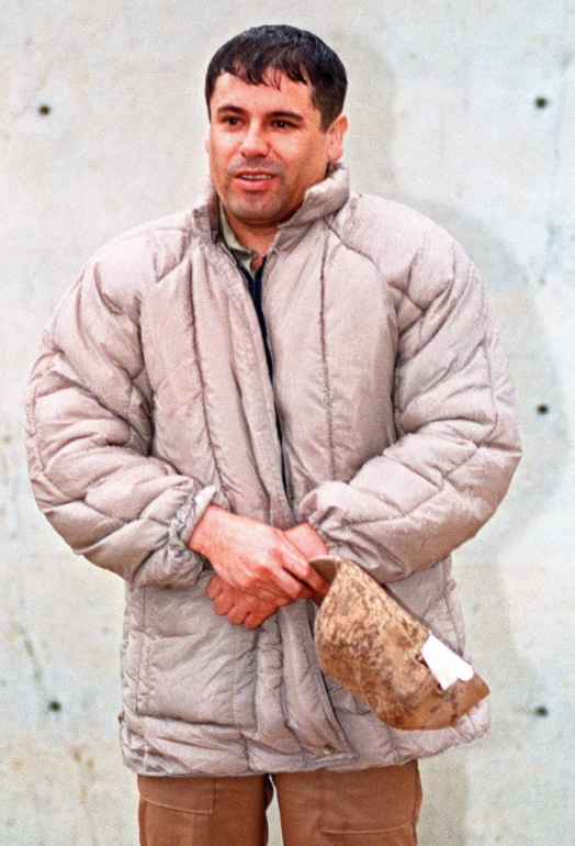 """""""El Chapo"""" Guzmán en 1993 es presentado ante la prensa."""