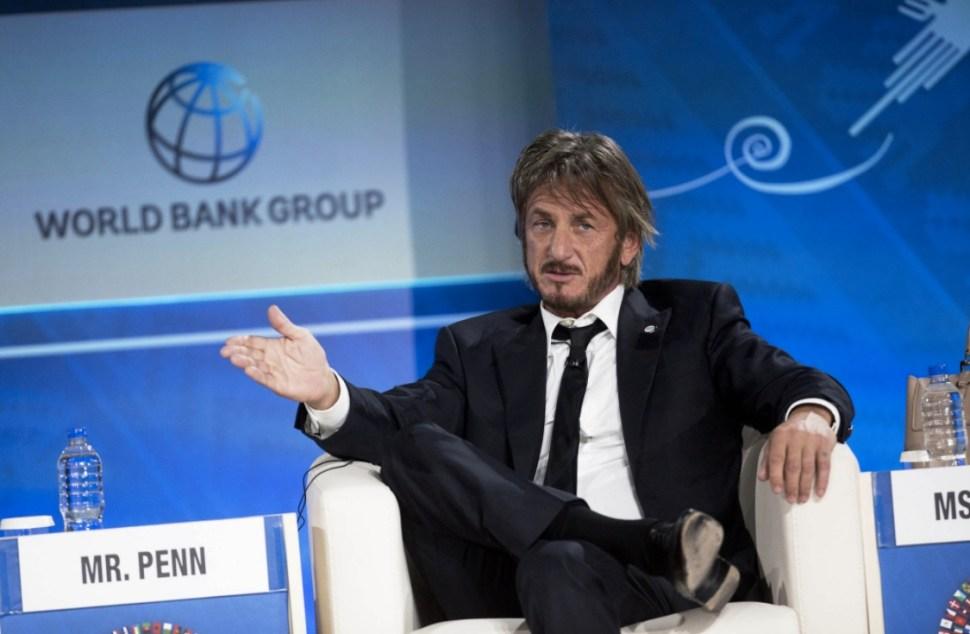Sean Penn en un foro de emprendedores. Esto durante los días posteriores a la publicación de la entrevista que le hizo a Joaquín Guzmán Loera.