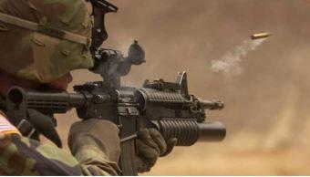soldado, Ejército, Estados Unidos, soldado disparando