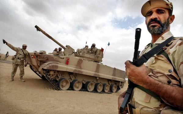 Miembros de la Fuerza del Escudo de la Peninsula en Kuwait