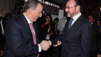 El secretario de Hacienda, José Antonio Meade y el canciller Luis Videgaray asistieron a la XXVIII Reunión de Embajadores y Cónsules (9/01/2017)(Notimex)