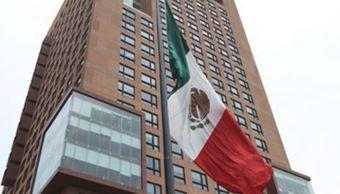 Fachada del edificio de la Secretaría de Relaciones Exteriores. (SRE)
