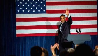 Obama da discurso en el año 2013.