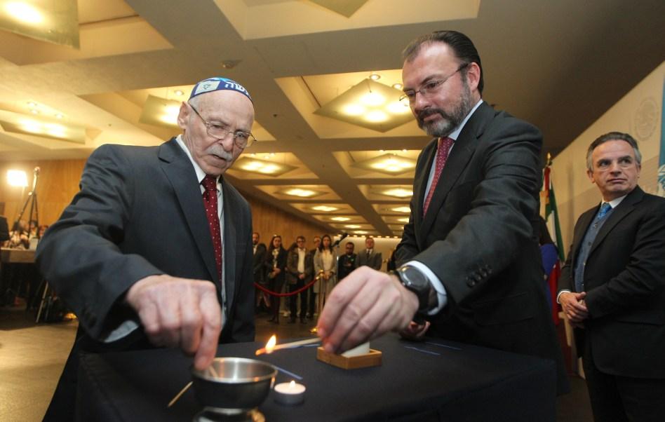 Luis Videgaray en la Conmemoración Anual en Memoria de las Víctimas del Holocausto (Notimex)