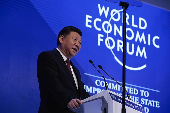 Xi Jinping en el Foro Económico Mundial (Getty Images)
