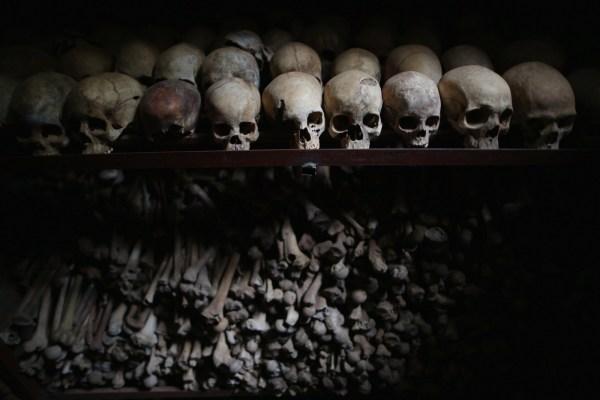 Víctimas del genocidio en Ruanda