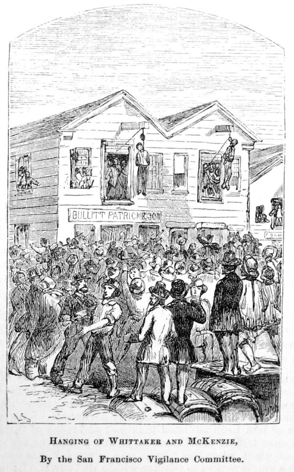 Linchamiento de Samuel Whittaker y Robert McKenzie en 1851 en San Francisco.
