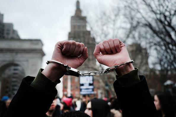 Marcha en Washington del 11 de febrero para protestar contra las políticas de migración del presidente de Estados Unidos, Donald Trump. (Getty Images, archivo)