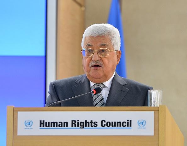 Mahmud Abbas en la 34ª sesión del Consejo de Derechos Humanos de la ONU. (Getty Images)