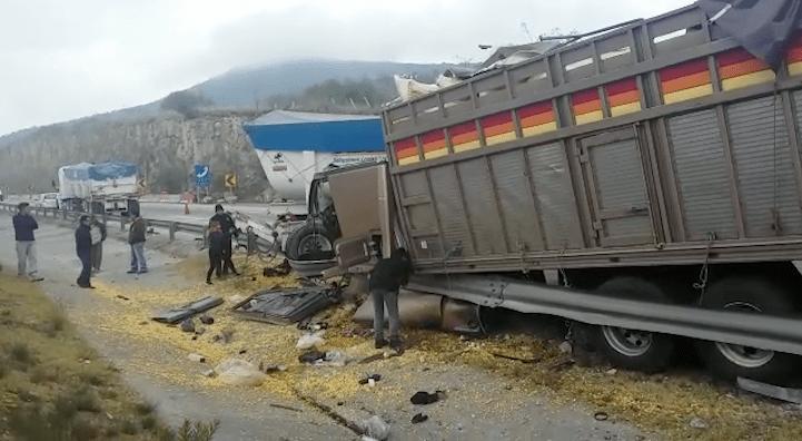 Accidente en la carretera Arco Norte (Noticieros Televisa)
