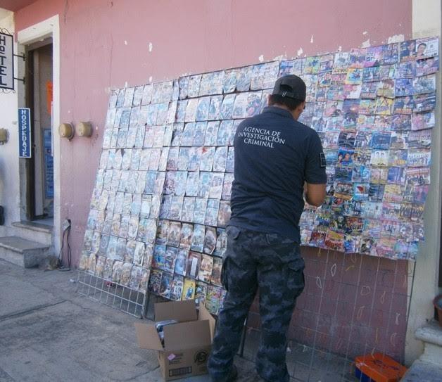 PGR asegura más de 4 mil piezas de material apócrifo en Campeche. (Noticieros Televisa)
