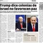 """La versión impresa del diario """"El Nacional"""" de República Dominicana muestra al comediante Alec Baldwin como el presidente Donald Trump, junto a una foto del primer ministro de Israel, Benjamin Netanyahu (AP)"""
