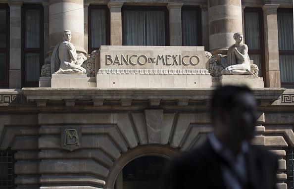 Vista del edificio del Banco de México (Getty Images)