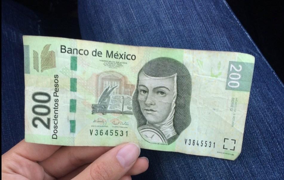 Billete de 200 pesos.