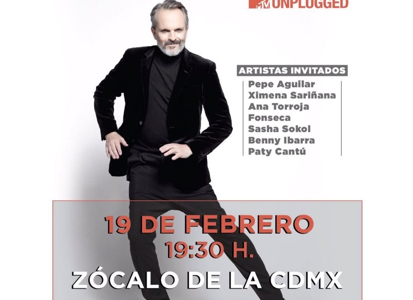 Miguel Bosé cantará el próximo 19 de febrero en el Zócalo de la CDMX.