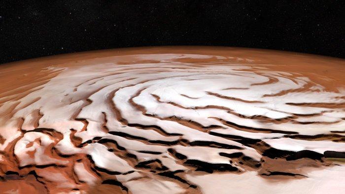 Casquete polar de Marte (Twitter @esa)