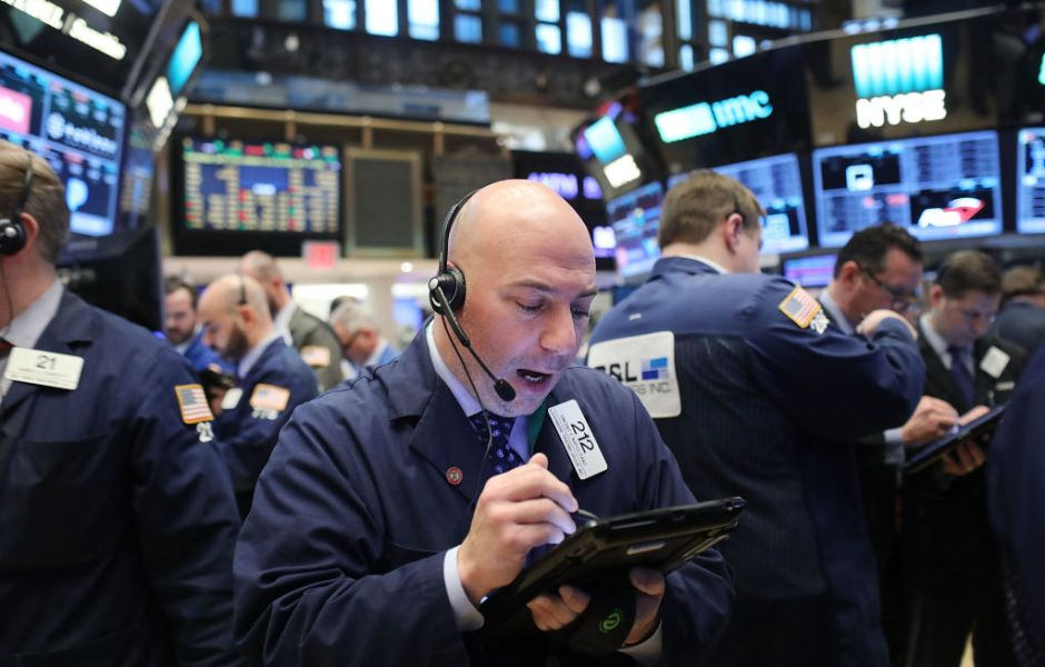 Corredor de bolsa en Wall Street, Nueva York.