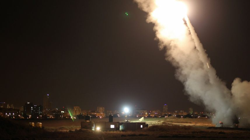 Dos misiles fueron destruidos por el sistema de defensa del Ejército israelí.