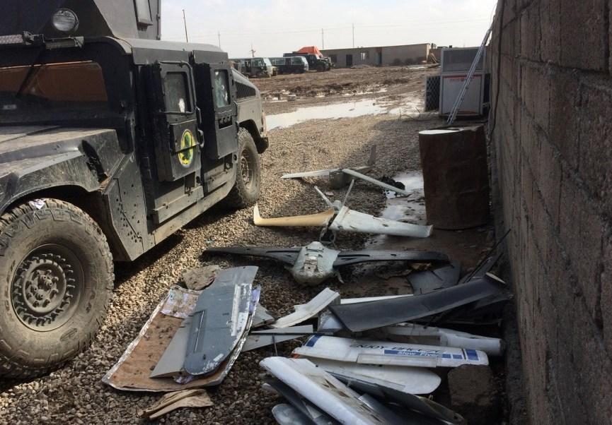 En los últimos meses, soldados iraquíes y varios civiles resultaron heridos por los explosivos lanzados desde drones (stripes.com)