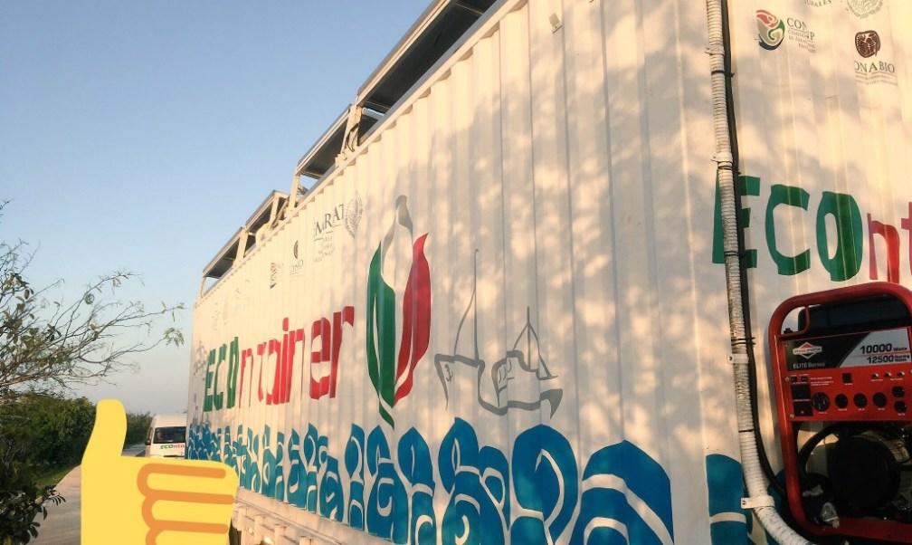 El contenedor marítimo visita varios puertos para proyectar documentales sobre la historia de la navegación en México; el cine móvil llega a Coatzacoalcos