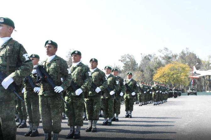 Elementos del Ejército y Fuerza Aérea durante una ceremonia en la Sedena (Foto de archivo: @SEDENAmx)