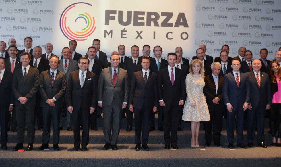 El presidente Peña Nieto se reunió con integrantes del Consejo Coordinador Empresarial y el Consejo Mexicano de Negocios que impulsan la iniciativa 'Fuerza México'.