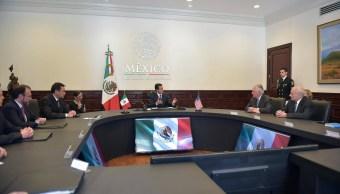 EPN reunión con Rex Tillerson y John Kelly. (Facebook-Enrique Peña Nieto)
