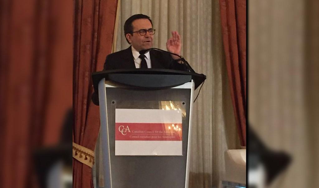 """En Canadá, el secretario de Economía, Ildefonso Guajardo participó en el panel """"Nuevas estrategias para la nueva Norteamérica"""" (Twitter: @SE_mx)"""