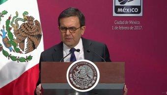 Ildefonso Guajardo, secretario de Economía, durante el el relanzamiento de la campaña y la marca Hecho en México (Twitter:@PresidenciaMX)