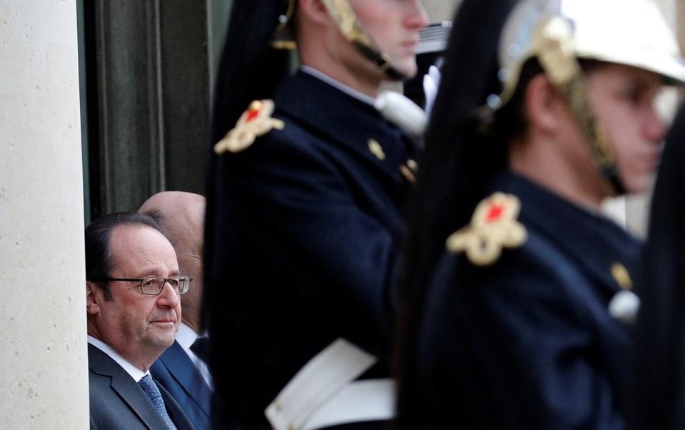 El presidente francés François Hollande en el palacio del Elíseo en París (Reuters)