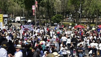 Paseo de la Reforma, en la Ciudad de México durante la manifestación contra las políticas del presidente de EU, Donald Trump (Noticieros Televisa)