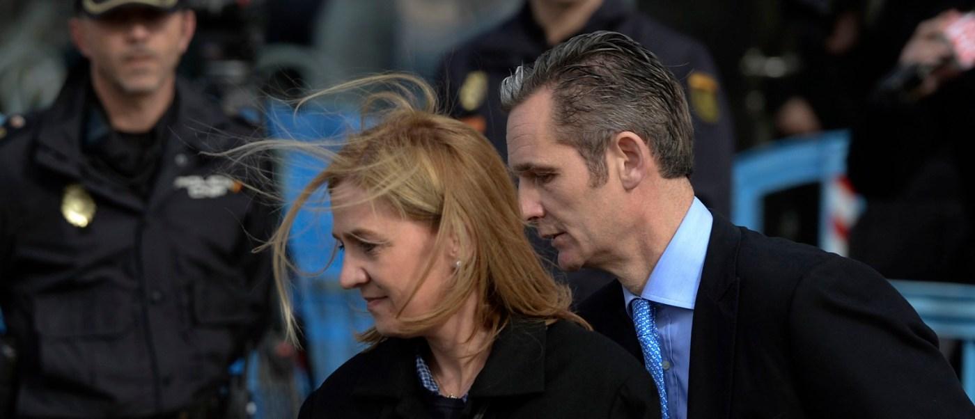 Infanta Cristina y su esposo Iñaki Urdagarin (AP, Archivo)