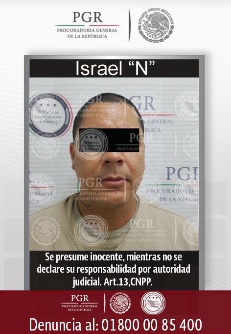 Israel 'N', extraditado por la PGR a Estados Unidos. (PGR)