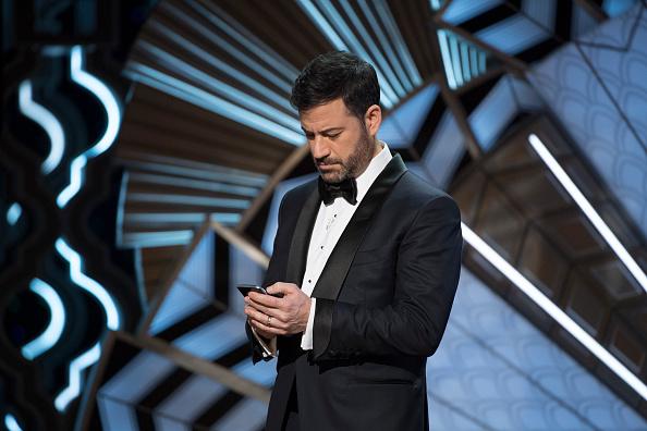 """""""Hola, Donald Trump. ¿Estás por ahí?"""", publicó Kimmel en su cuenta de Twitter durante la ceremonia televisada de los Óscar (Getty Images)"""