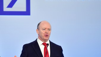 John Cryan, CEO de Deutsche Bank, presenta los resultados financieros de la compañía (Getty Images)
