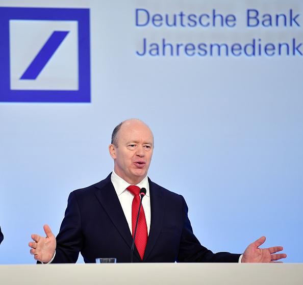 John Cryan, CEO de Deutsche Bank, presenta los resultados financieros de la compañía (Getty Images)