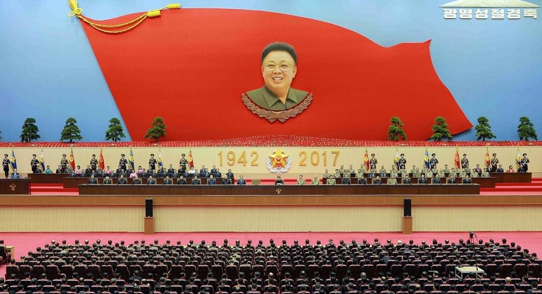 Corea del Norte celebra el 75 aniversario del nacimiento de Kim Jong-Il.