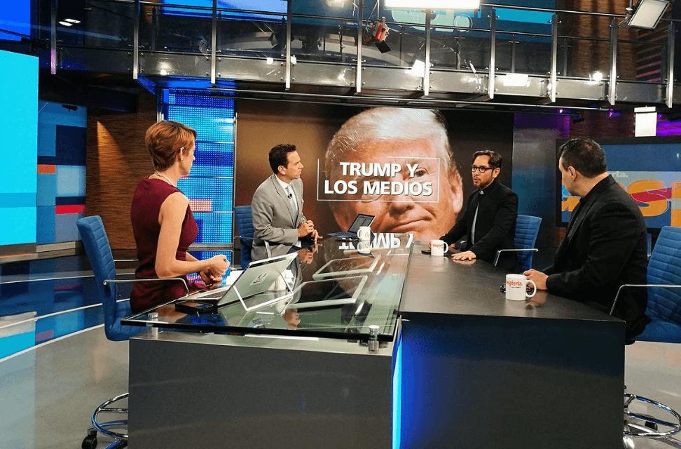 Los analistas Genaro Lozano y Marco Levario, en Despierta con Loret. (Noticieros Televisa)