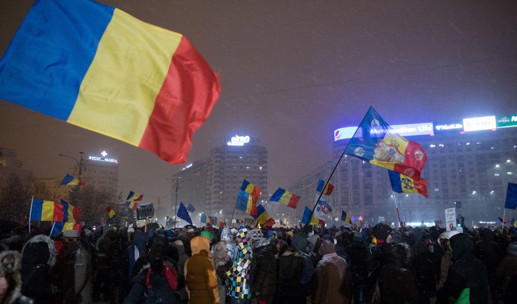 Los manifestantes repudian el gobierno del primer ministro social liberal de Rumania, Sorin Grindeanu.