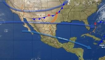 Mapa con el pronóstico del clima de este 24 de febrero; aumentarán las temperaturas en gran parte del país. (SMN)