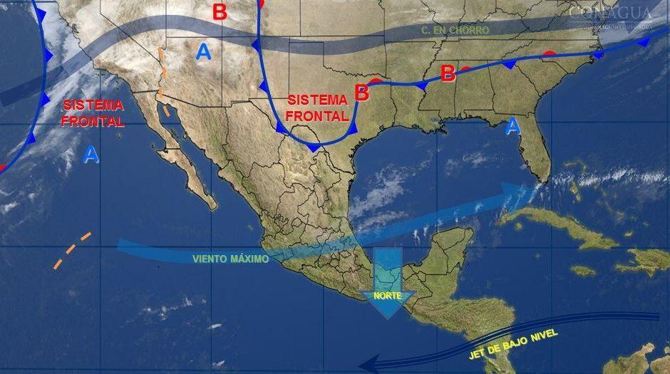 Mapa con el pronóstico del clima para este 2 de febrero; aumentan las temperaturas en país. (SMN)