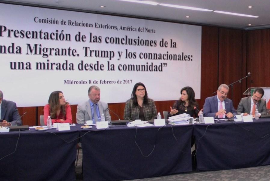 La senadora del PRI, Marcela Guerra, presidenta de la Comisión de Relaciones Exteriores, informó que ya se trabaja en mecanismos para proteger remesas de connacionales en EU