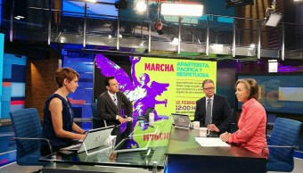 Maria Amparo Casar en entrevista para Despierta con Loret (Twitter, @NTelevisa_com)
