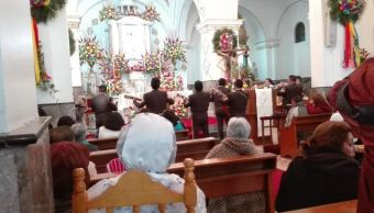 Mariachis festejan a la Virgen de la Candelaria en Coyoacán, CDMX. (Twitter/@memosegura11)