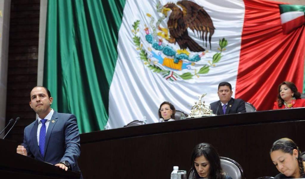 Marko Cortés, coordinador de la bancada del PAN en la Cámara de Diputados.