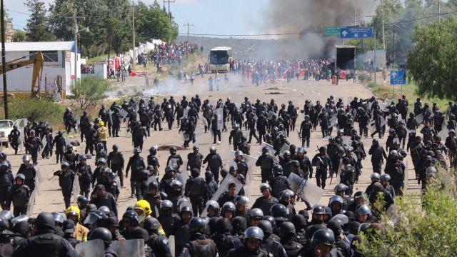 El enfrentamiento en Nochixtlán, Oaxaca, ocurrió el 19 de junio de 2016. (AP, archivo)