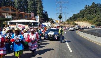 El pueblo del Estado de México desborda su fe y pide con fuerza por sus migrantes. (Twitter: @PoliciaFedMx)
