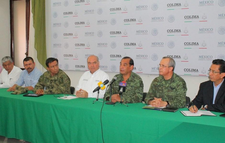 Policía militar en Colima