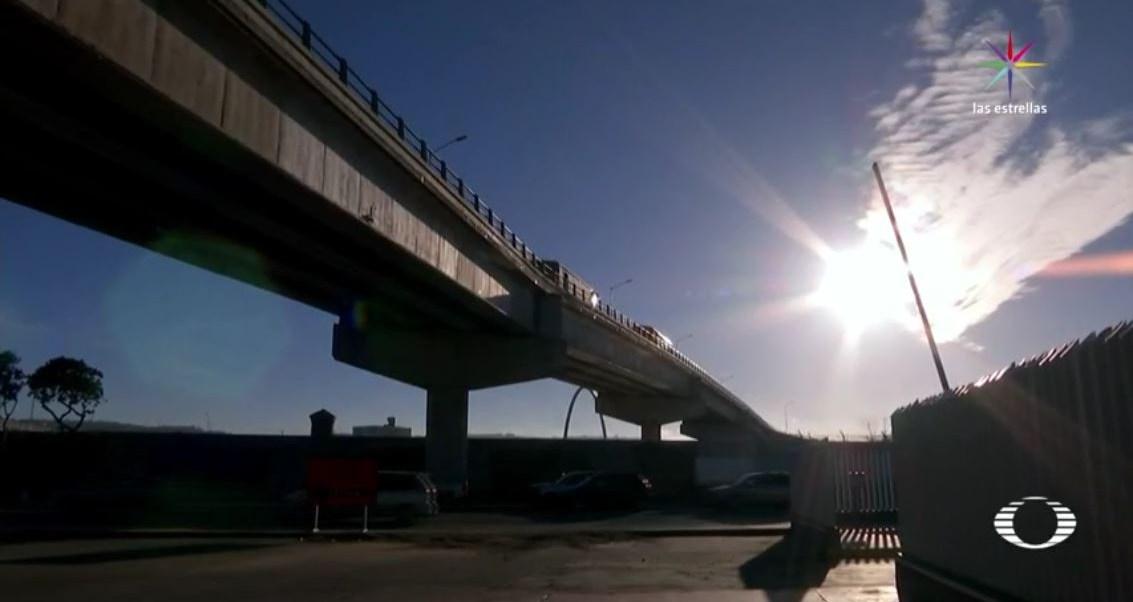 Guadalupe Olivas se aventó del puente 'El Chaparral', en Tijuana, Baja California. (Noticieros Televisa)
